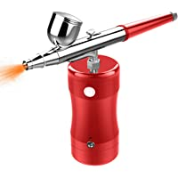 COSSCCI Handheld Airbrush Kit, Mini Air Compressor Spray Gun Single Action USB Rechargeable Airbrush Set for Makeup Art…