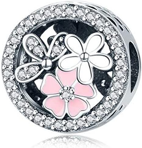 AUTHENTIC ZABLE STERLING SILVER LOVE AND ROSE INSIDE HEART EUROPEAN BEAD