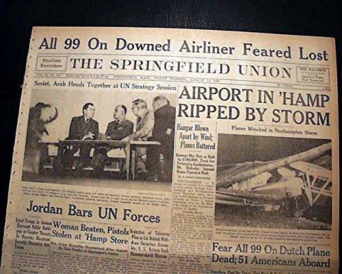 KLM FLIGHT 607-E Cuper Constellation Airplane CRASH Disaster 1958 Old - Hughes Constellation