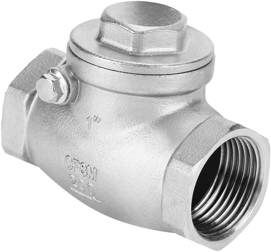 TKSE 1 DN25 Stainless Steel One Way Swing Check Valve Female Thread WOG 200PSI