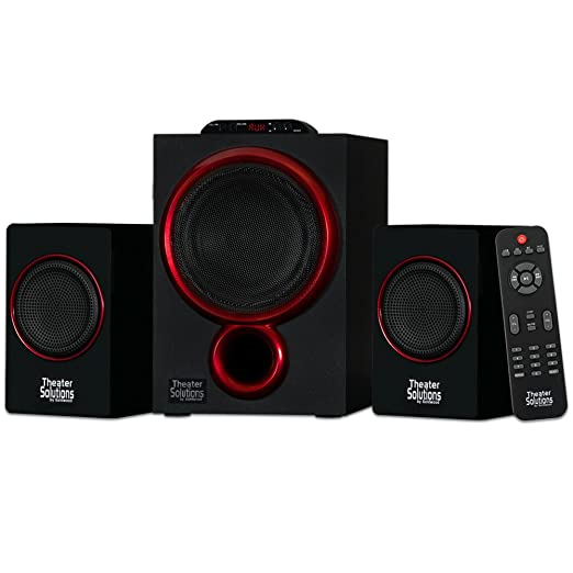 Theater Solutions by Goldwood Bluetooth 2.1 Speaker System 2.1 Channel Home Theater Speaker System, Black  TS212  Multimedia Speaker Systems
