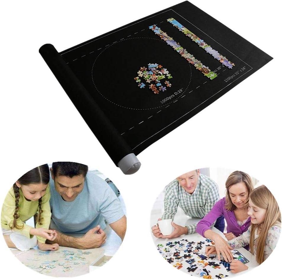 Couverture De Rangement Pour Puzzle Rouleau De Feutre Mat Tapis De Jeu Puzzles Couverture Pour Jusqu/à 1500 Pi/èces Puzzles Voyage Sac De Rangement Puzzle Pad B