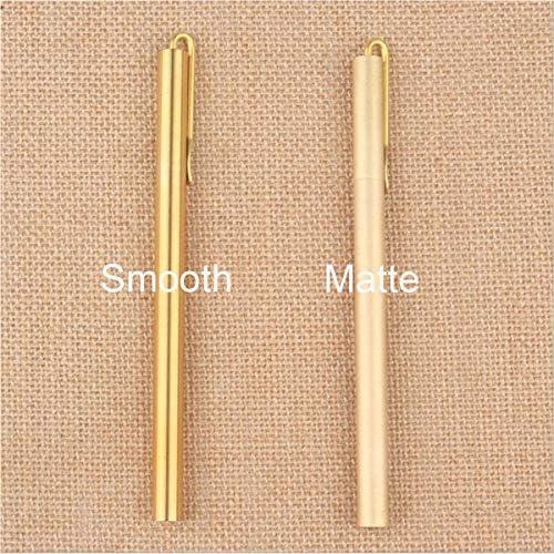 Vintage Pure Brass Pens Copper Ballpoint Black ink EDC Pen Handmade Refillable