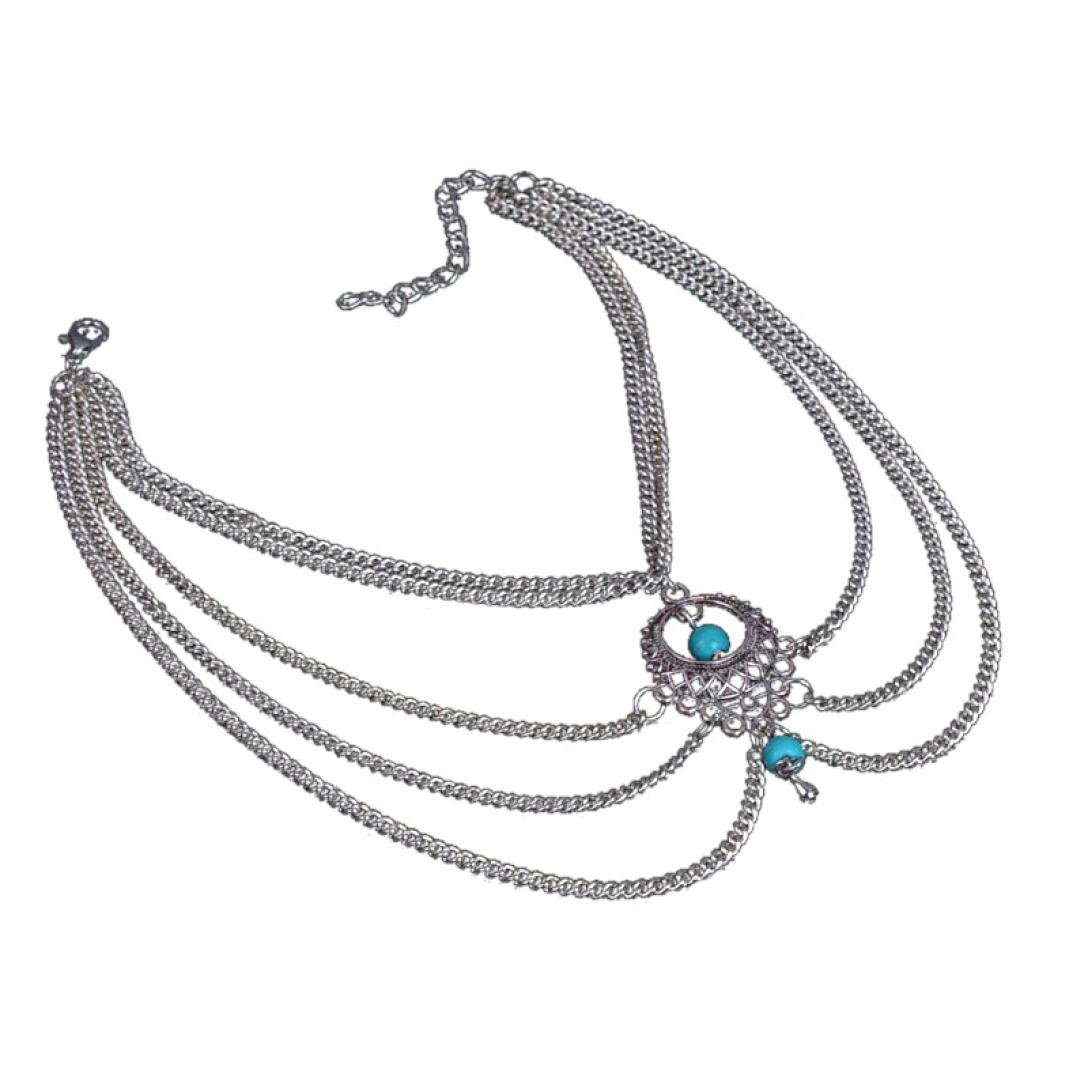 Susenstone Womens Beach Barefoot Sandal Foot Turquoise Jewelry Anklet Chain Tassel