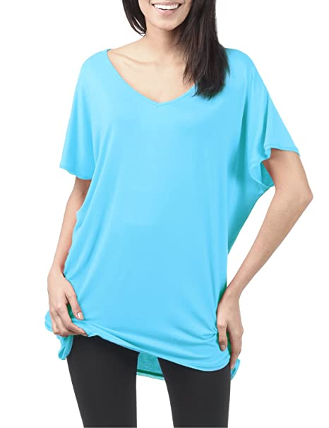 9087c3b336a TWINTH Tunic Top Plus Size Colorful Loose Fit Short Sleeve at Amazon ...