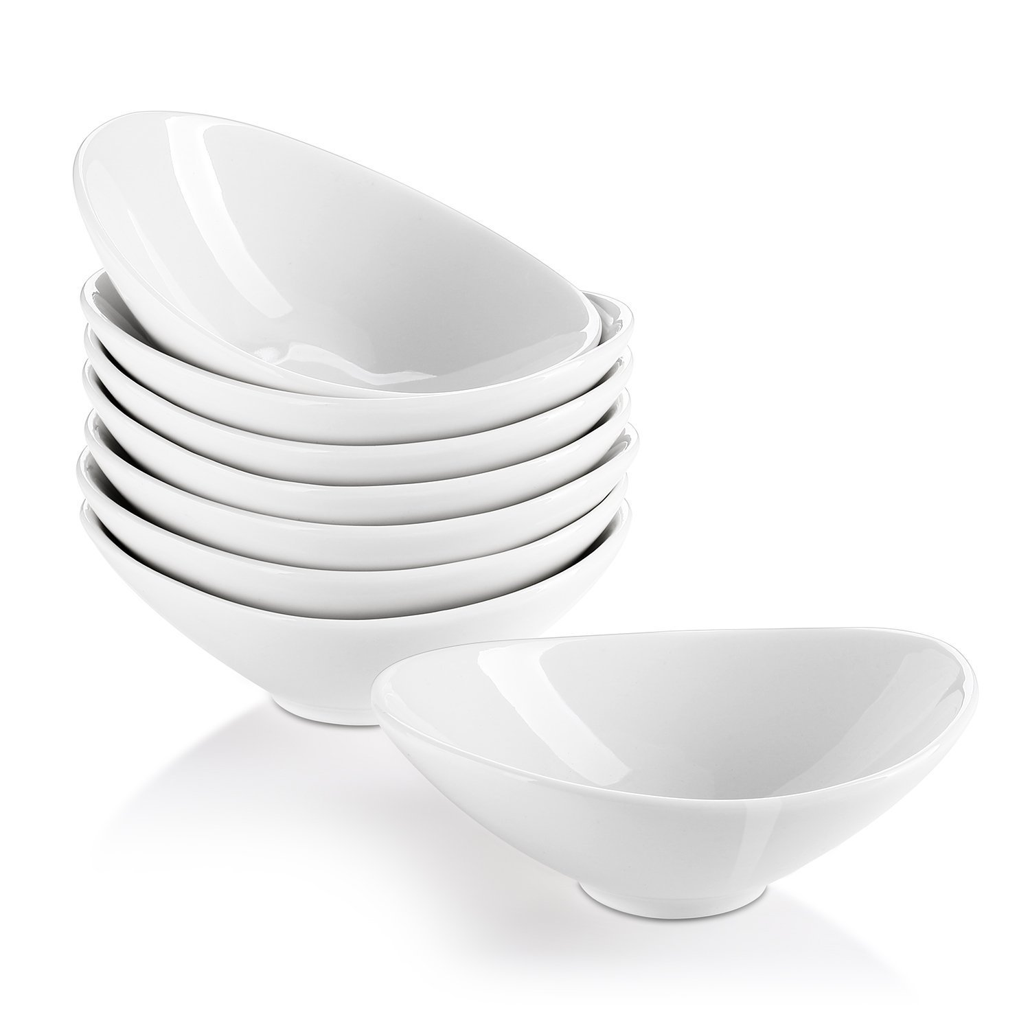 Lifver 8-Pack Bowl Sets/Ramekins, Lovely porcelain Dip Bowls, White