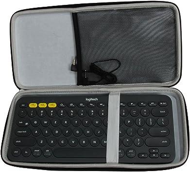 Hermitshell Caja protectora de viajes EVA Llevar tamaños cubierta de la bolsa del bolso compacto para Logitech K380 920-007558 920-007559 Bluetooth ...
