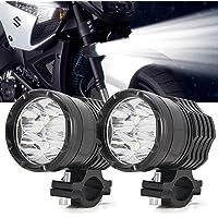 Duokon 2Pcs DC 12V-24V Aluminium Super Bright Car LED Fog Light Bulb,Daytime Headlight Bulbs for H6//P15D