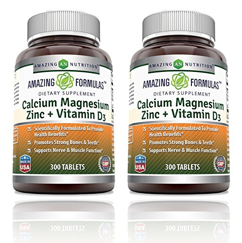 Stunning Nutrition Calcium Magnesium Zinc + Vitamin D3 300 Tablets - 2 Pack