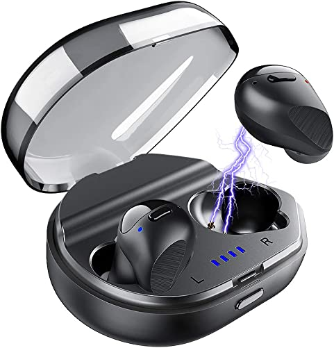 True Wireless Earbuds Bluetooth 5.0 Headphones, Mijiaer Stereo Bass Wireless Earbuds CVC 8.0 Noise Cancelling Earphones 24 Hrs Playtime with Charging Case IPX6 Waterproof Built-in Mic