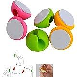Westeng confezione da 6 fermacavi per tenere la scrivania in ordine, colore casuale