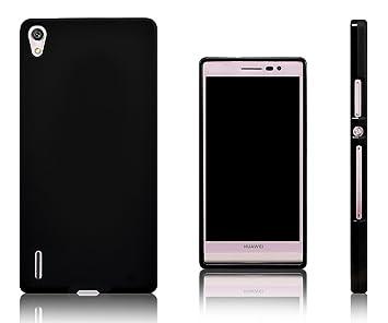 Xcessor Vapour Funda Carcasa de TPU Gel Flexible para Huawei Ascend P7. Negro