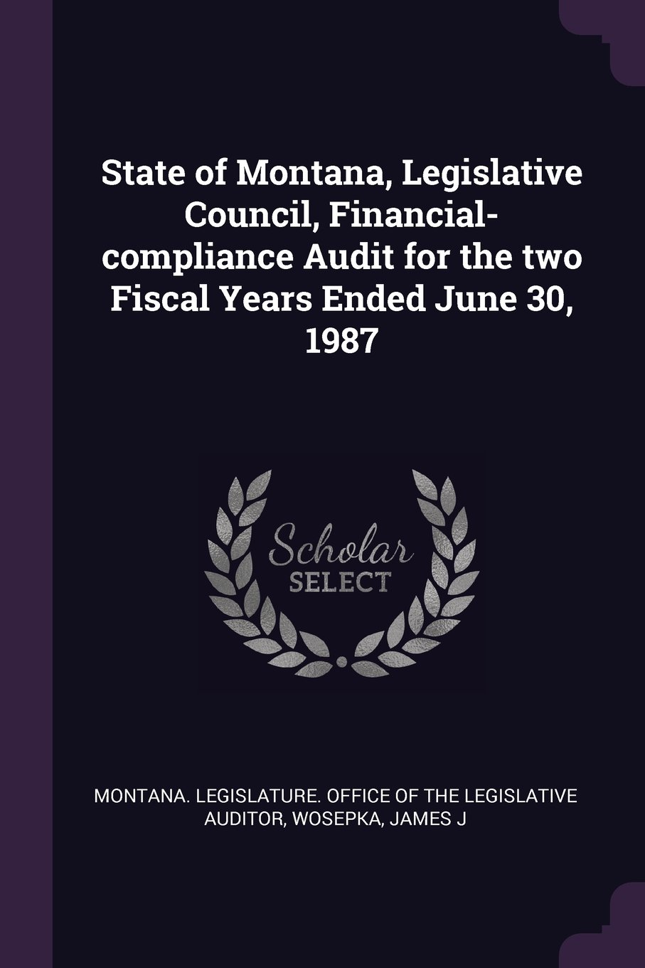 Read Online State of Montana, Legislative Council, Financial-Compliance Audit for the Two Fiscal Years Ended June 30, 1987 pdf