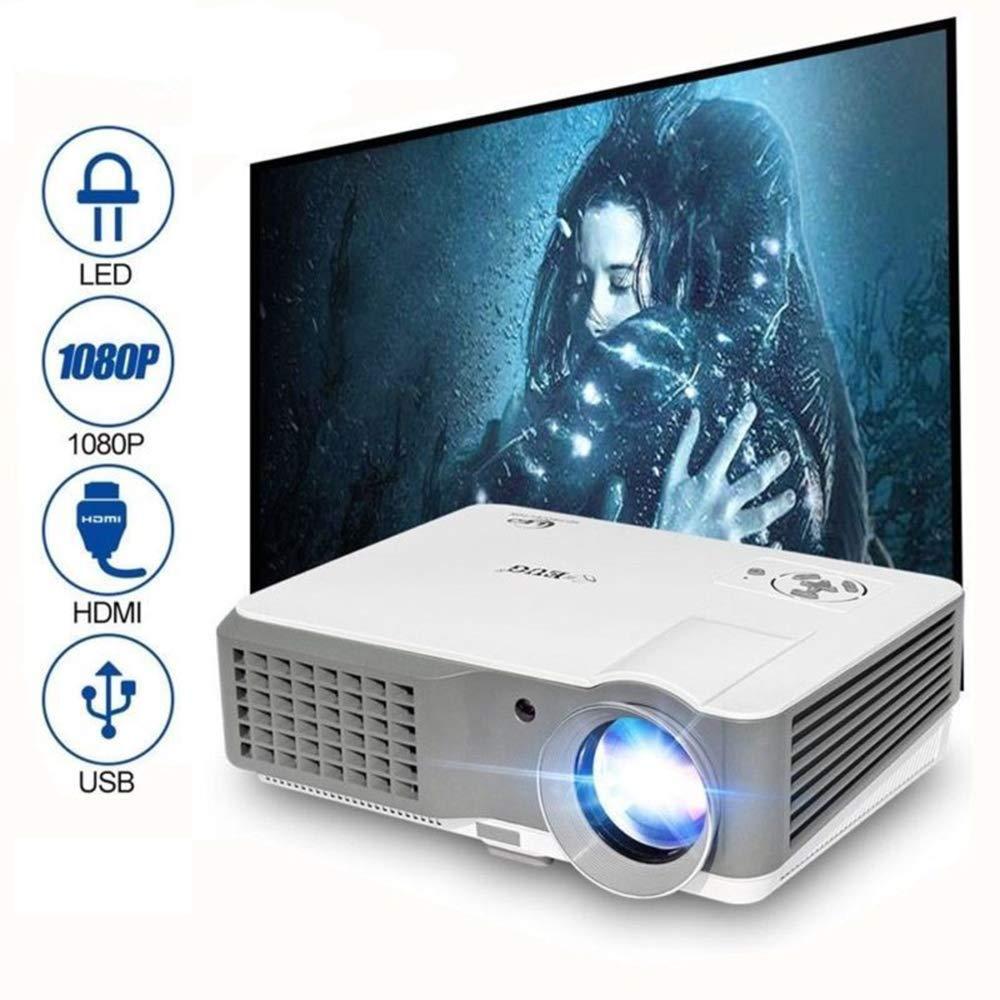 Mini proiettore video, 1500 Lumens Home Theater portatile Film 1080P Full HD Supporto per proiettore Airplay Cast, Uscita audio HDMI Altoparlanti AV USB per intrattenimento all'aperto Film Giochi EUG