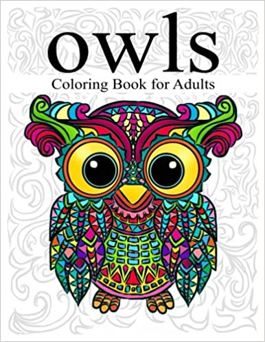 Amazon Com Owl Coloring Book For Adults Stress Relieving Animal
