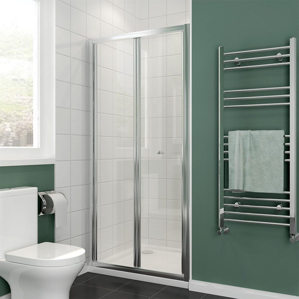 800mm Bi Fold Shower Door Enclosure Glass Reversible Folding Cubicle Door Buy Online In Suriname At Desertcart Productid 121762390