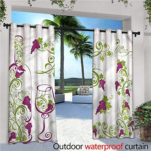Cortina Blanca de privacidad para Exteriores de pergola o Penthouse de Verano, con Aislamiento térmico, Repelente al Agua, para balcón: Amazon.es: Jardín