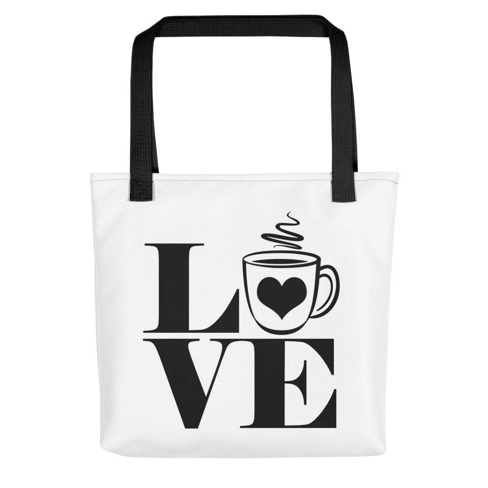 City Street Prints Love Coffee - Coffee Lovers Tote Bag