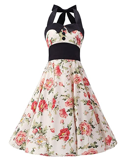 MISSMAO Mujer Hepburn 1950s Estilo Vintage del Halter de la subsección (Cabestro) Camisa de