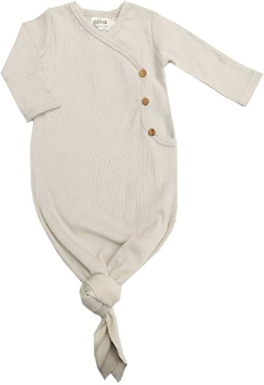 Lucy Lue Organics Size 0-3m Organic Kimono Knotted Baby Gown