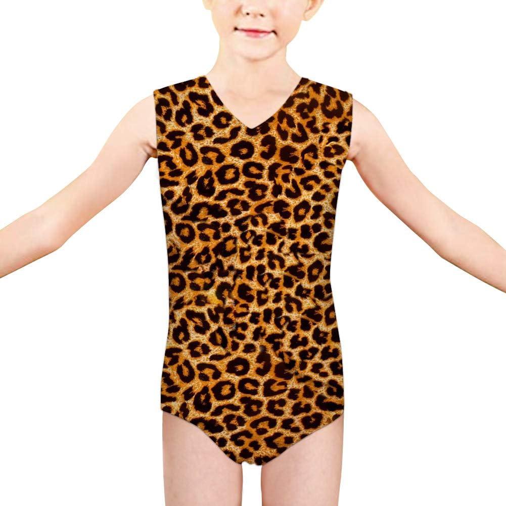brushed poly leotard baby girl leotard girls leotard toddler leotard Leopard leotard animal print leotard spring outfit