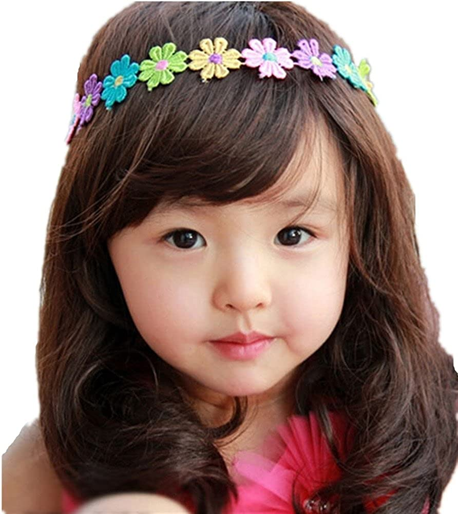 Qandsweet Baby Girl's Long Hair Wig Child Curly Hair Wigs Little Girl Kids Take Photo Cosplay 44-48CM)