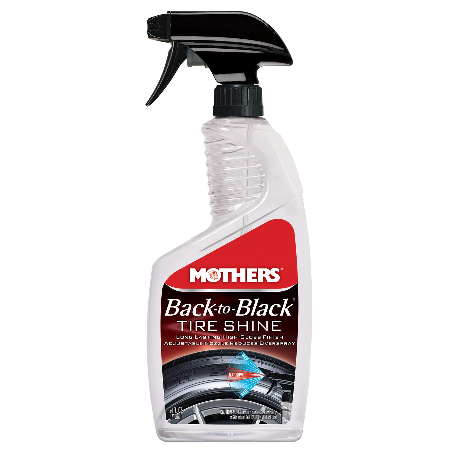 Mothers 06924-6 Back-to-Black Tire Shine - 24 oz, (Pack of 6)