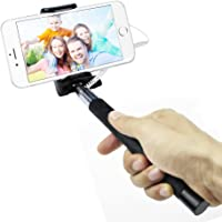 Smart Phone Selfie Stick, Battery free extendable Self Timer holder with Adjustable Clip, Built-in Remote Shutter…