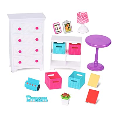 "My life As 18"" Doll Bedroom Accessory Play Set Dresser Lamp Table: Toys & Games"