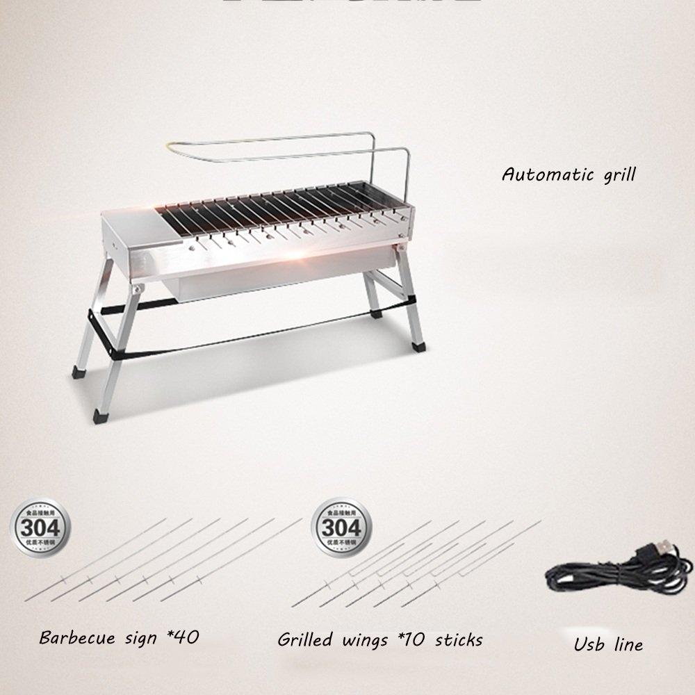 Huifang grills Automatische QFFL dainkaolu Automatische grills Grill BBQ Outdoor Haushalts Elektrische Flip Grill Maschine Edelstahl Grill Maschine Holzkohle Grill Werkzeuge 4 Farbe Optional 5eb463