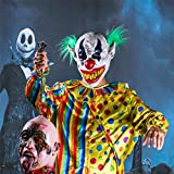 HyalineDora-Halloween-Latex-Clown-Mask-With-Hair-for-AdultsHalloween-Costume-Party-Props-Masks-green-hair