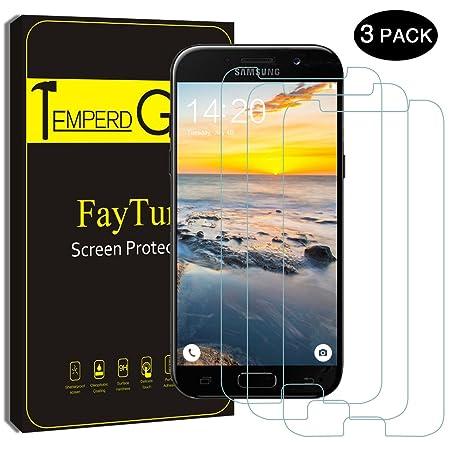 Protector de Pantalla para Samsung Galaxy A5 (2017), FayTun 3-Pack, Cristal Templado para Samsung Galaxy A5 (2017), Transparencia de 0.3mm, Anti-aceite y ...