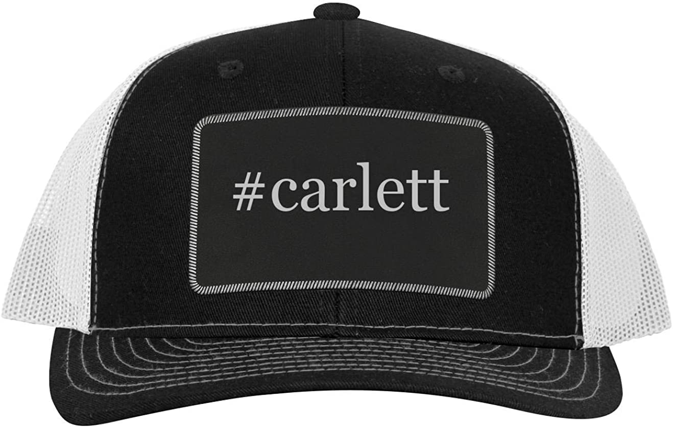 One Legging it Around #scheld Leather Hashtag Black Patch Engraved Trucker Hat