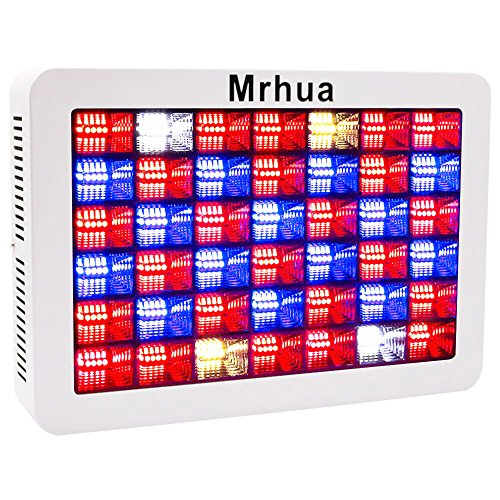 Mrhua Reflector-Series 600W LED plant light, Full Spectrum LED Grow Light with Daisy Chain Plant Growing Lamp for Indoor Plants Hydroponic Greenhouse Seedlings Veg & Flowering.