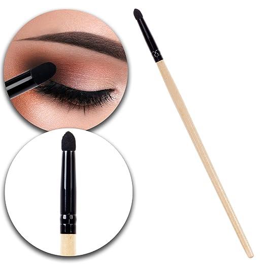Beauty Make Up Application Tool Eyes Eyelids Smudge Eyeshadow Shadow Applicator Sponge Brush With Wooden Handle