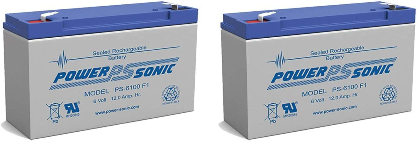 Power-Sonic PS-6100 6V 12AH SLA Replacement for National Battery C18A RB6100-4 Pack