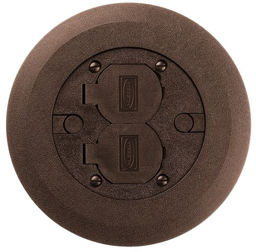 Hubbell 34251 Floor Box Cover And Flange, Brown ()