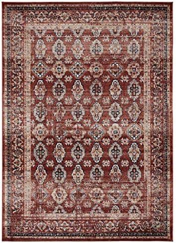 Luxe Weavers Waterloo Burgundy Oriental 8×10 Area Rug