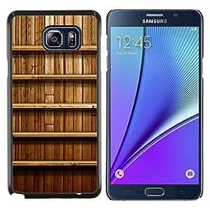 Caucho caso de Shell duro de la cubierta de accesorios de protección BY RAYDREAMMM - Samsung Galaxy Note 5 5th N9200 - Estante de la pared de madera Interiror Diseño Naturaleza