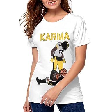 1f71762d1 Amazon.com  Women Steelers Karma JuJu Smith-Schuster Vontaze Burfict  Lightweight Tshirts  Clothing