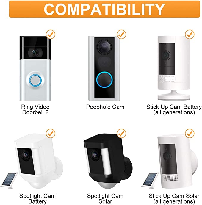 New Version Feirsh Charger Station for Ring Battery Video Doorbell 2//3 /& Stick Up Cam Battery Dual Rechargeable Batteries Charging Station Compatible with Ring Spotlight Cam Battery