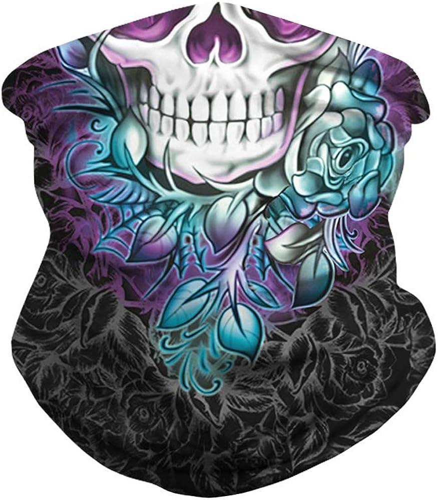 Skull Face Bandanas Cover Mask for Outdoor