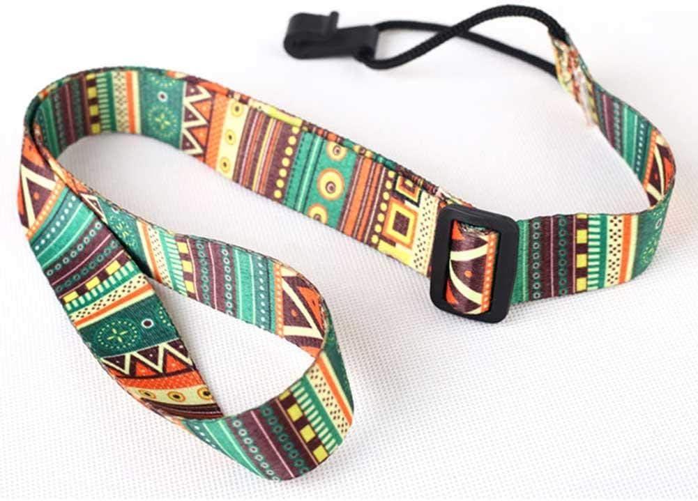 Luckybaby - Correa para Ukelele de Estilo étnico y Colorido, Estilo Bohemio, cinturón de algodón, Cinta de Transferencia térmica, cinturón para Ukelele o Guitarra de tamaño pequeño