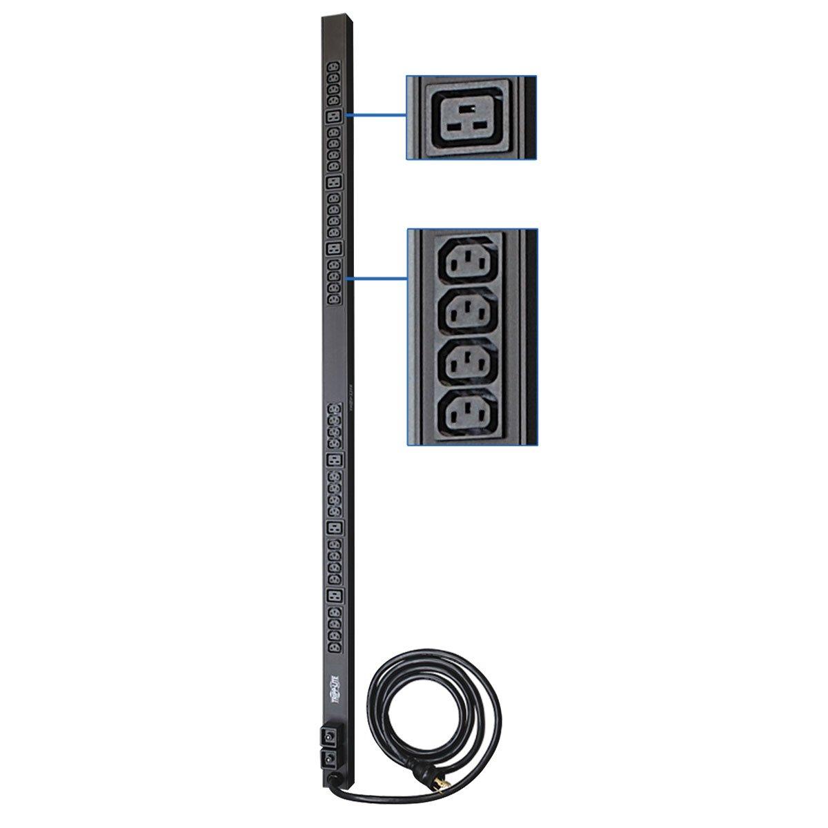 Tripp Lite Metered Pdu 30a 30 Outlets 6 C19 24 C13 20p To Nema 20r X 3 208 240v L6 30p 10 Ft Cord 0u Vertical Rack Mount Power Pdumv30hv Electronics