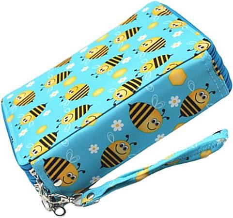 wersdf Estuche lapices Estuche Enrollable Pencil Storage Pen Storage Pencil Pouches for Girls Roll up Pencil Case Pencil Roll Art Case Little Bee: Amazon.es: Hogar
