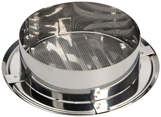 KOTARBAU - Rejilla de ventilación redonda (100 mm, acero inoxidable, enroscable)