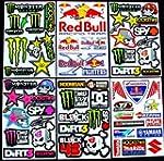 6 Sheets Motocross stickers Kii+ Rock...