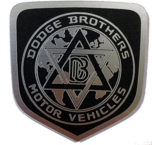 Dodge Brothers Bros. Challenger 2007+ Front Badge Emblem Black (Dodge Brothers)