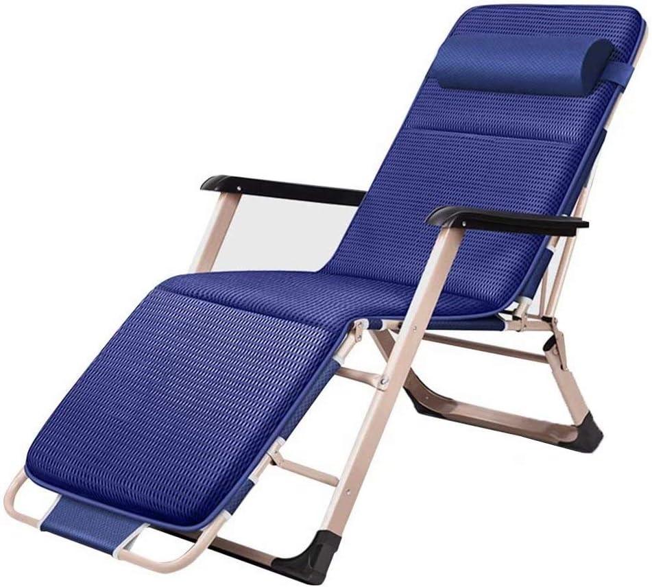 Lounger Relaxation Garden Outdoor Foldable Garden Chair Metal Foldable Sun Camping, Black