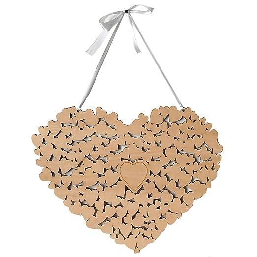 RONSHIN - Cartel de Madera con Forma de corazón para ...